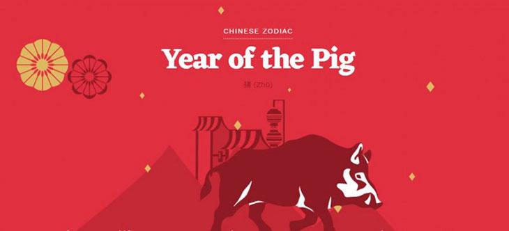 Типы Свиньи по Восточному календарю – 5 стихий